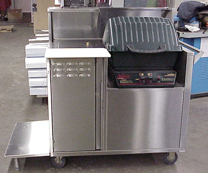 Buffalo Grill Stainless Steel Vending Carts