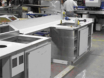 Commercial Refrigerated Stainless Steel Serving Line