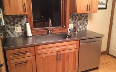 Ohio Stainless Steel Countertop with Stainless Steel Sink – Custom Made to Size.