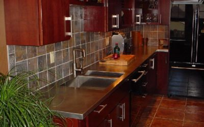 Stainless Steel Counters Featured in Buffalo Century House with Antique Matte Finish