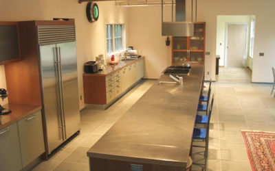 Stainless Steel Countertop Island 23 Feet Long!