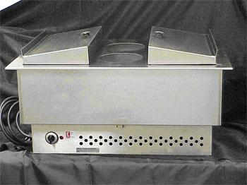 Electric Stainless Steel Hot Dog Bun & Sauce Warmer
