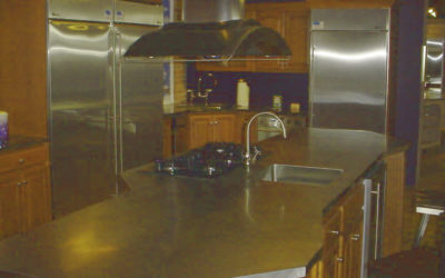 Stainless Steel Counter Island with Antique Matte Finish