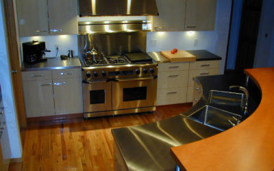 Minneapolis, MN: Custom Stainless Steel Radius Island Countertop