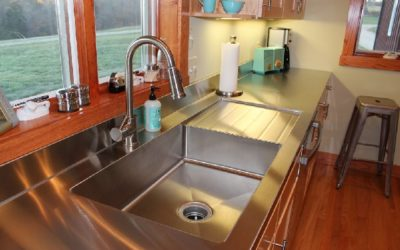 Missouri Custom Kitchen Stainless Steel Sink, Counter Top and Drain Board