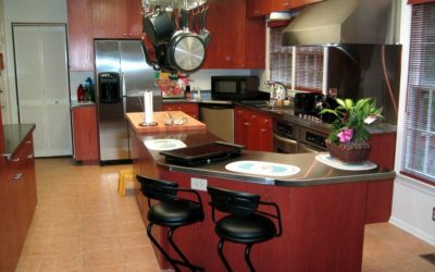 Stainless Steel Countertop Island with Great Curves